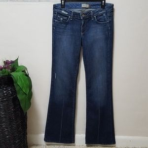 Paige Jeans Laurel Canyon Bootcut Flare Blue Denim